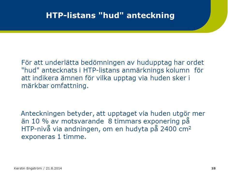 HTP-listans hud anteckning