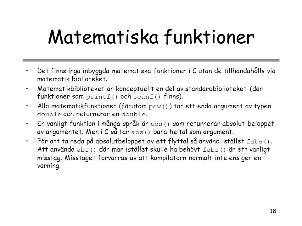 Matematiska funktioner