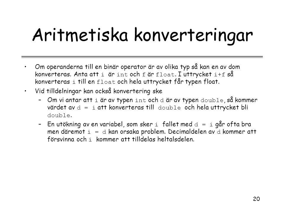 Aritmetiska konverteringar