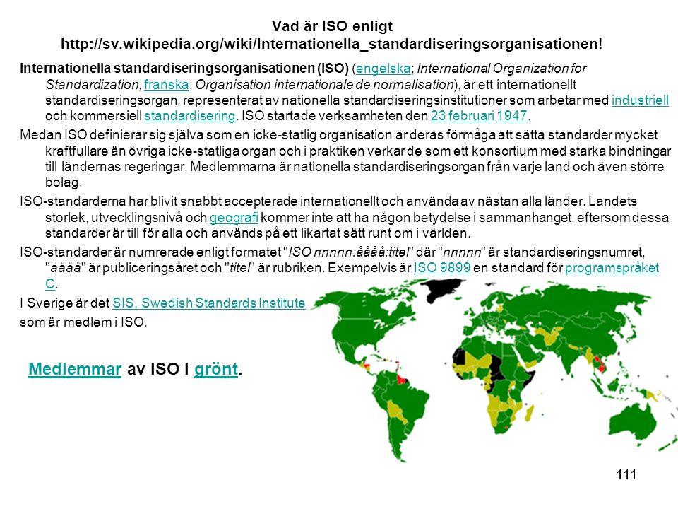 Medlemmar av ISO i grönt.