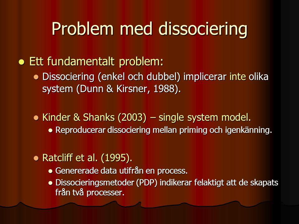 Problem med dissociering