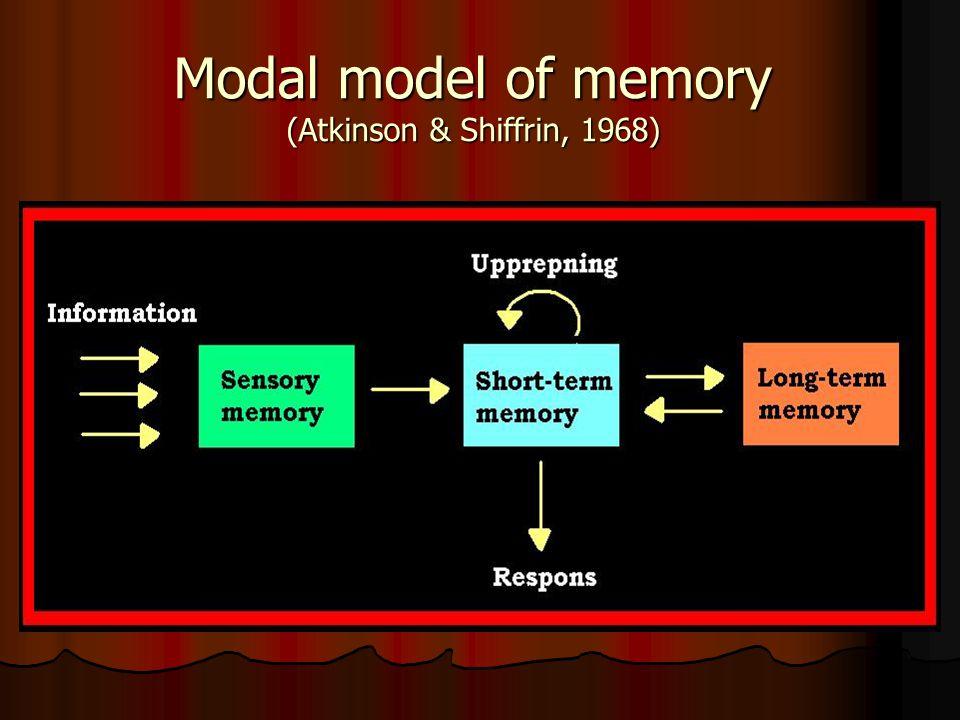 Modal model of memory (Atkinson & Shiffrin, 1968)