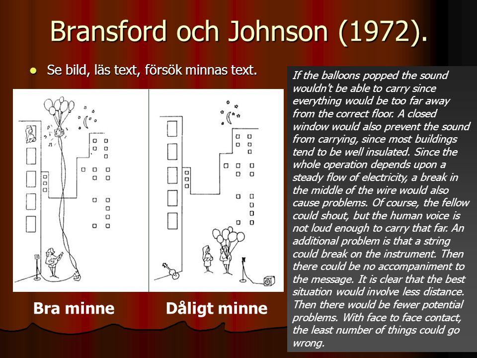 Bransford och Johnson (1972).