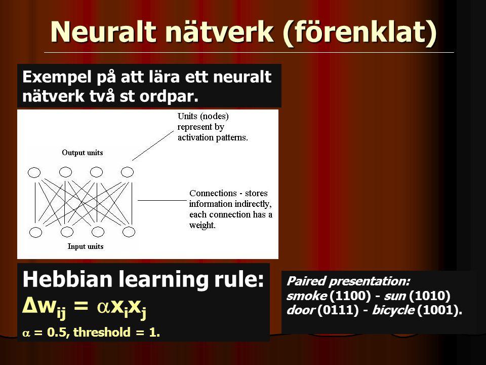 Neuralt nätverk (förenklat)