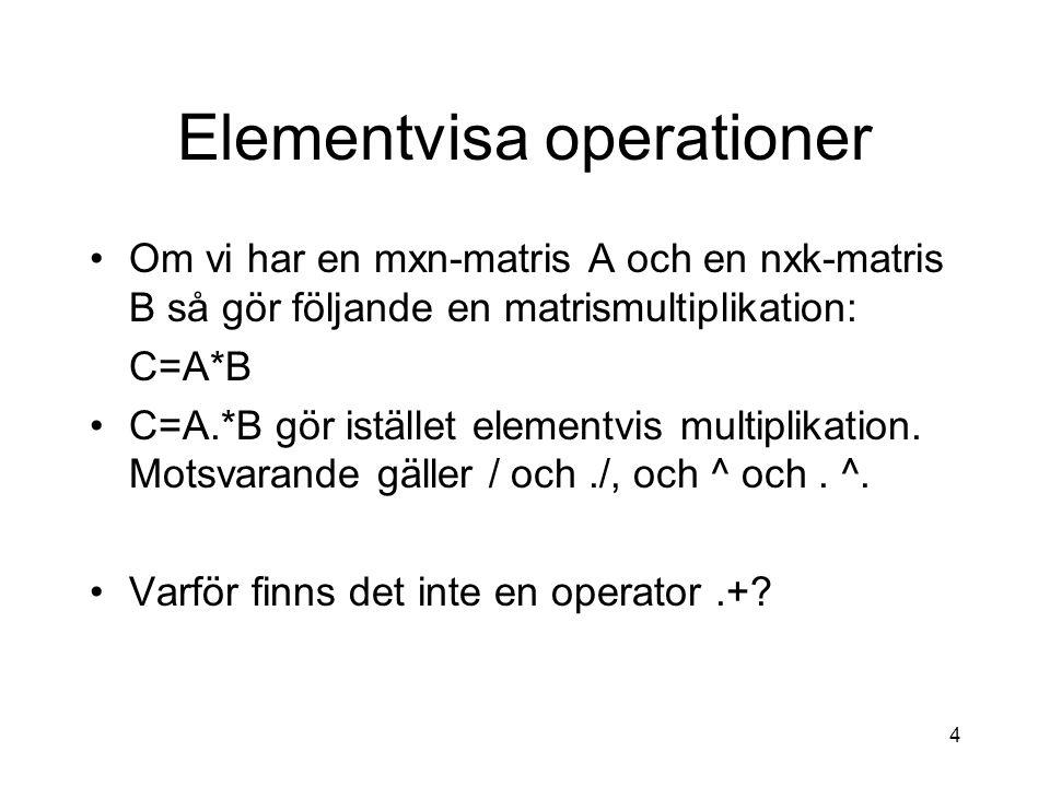 Elementvisa operationer