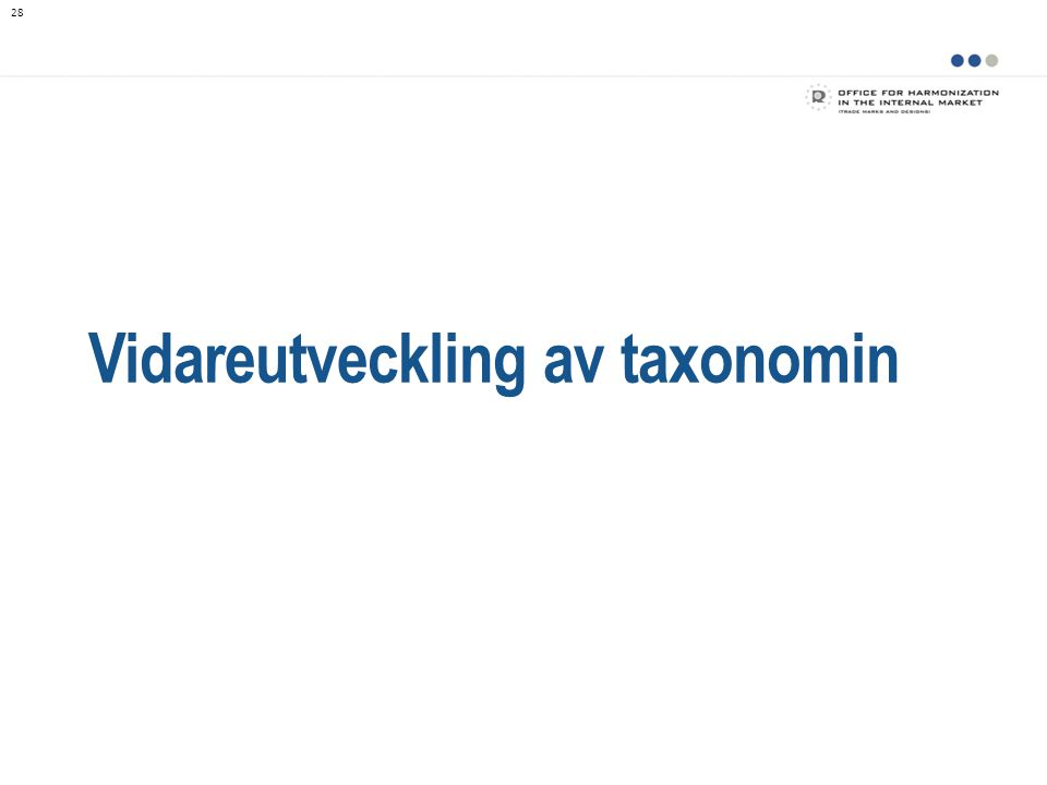 Vidareutveckling av taxonomin
