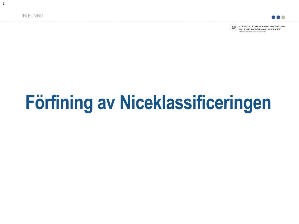 Förfining av Niceklassificeringen