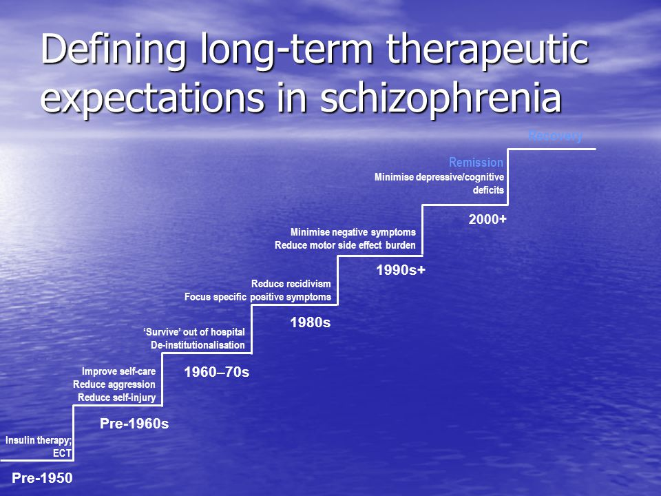 Defining long-term therapeutic expectations in schizophrenia