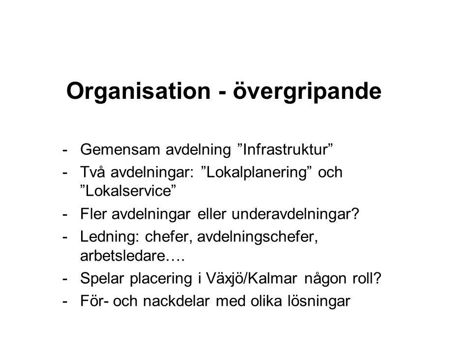Organisation - övergripande