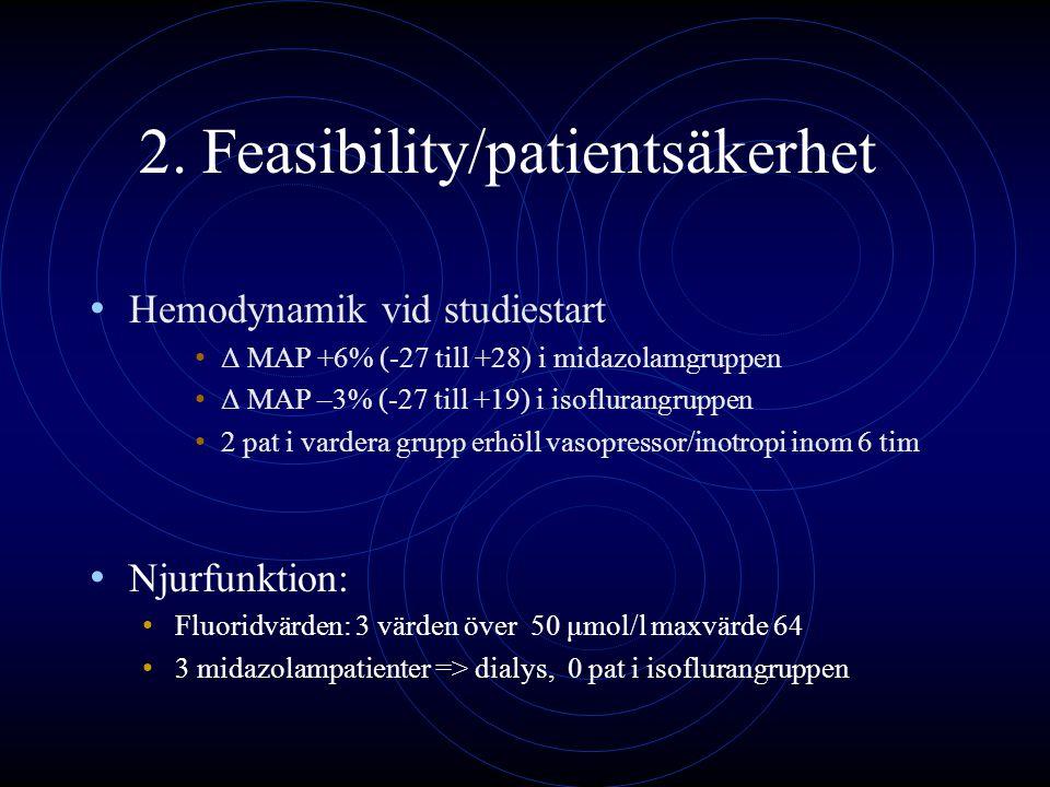 2. Feasibility/patientsäkerhet