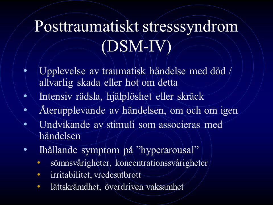 Posttraumatiskt stresssyndrom (DSM-IV)