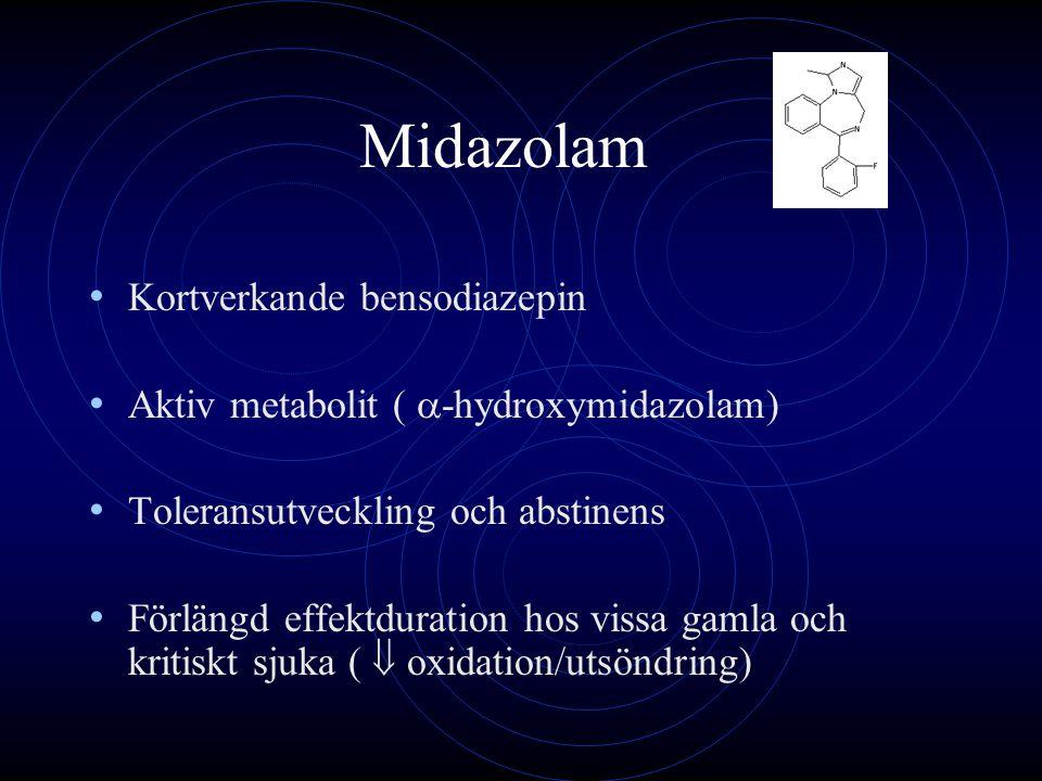 Midazolam Kortverkande bensodiazepin