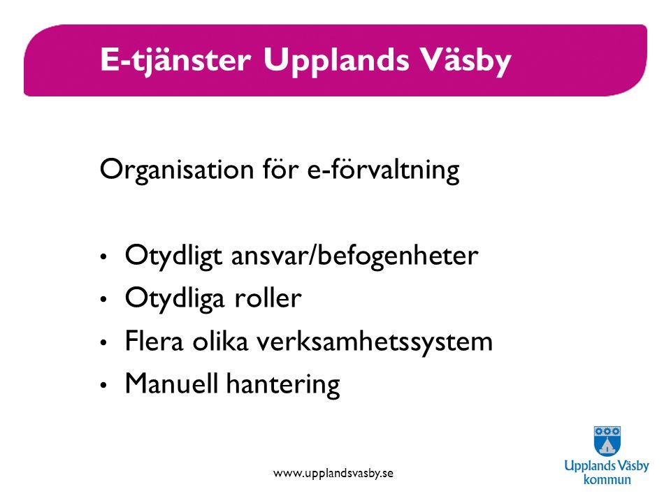 E-tjänster Upplands Väsby