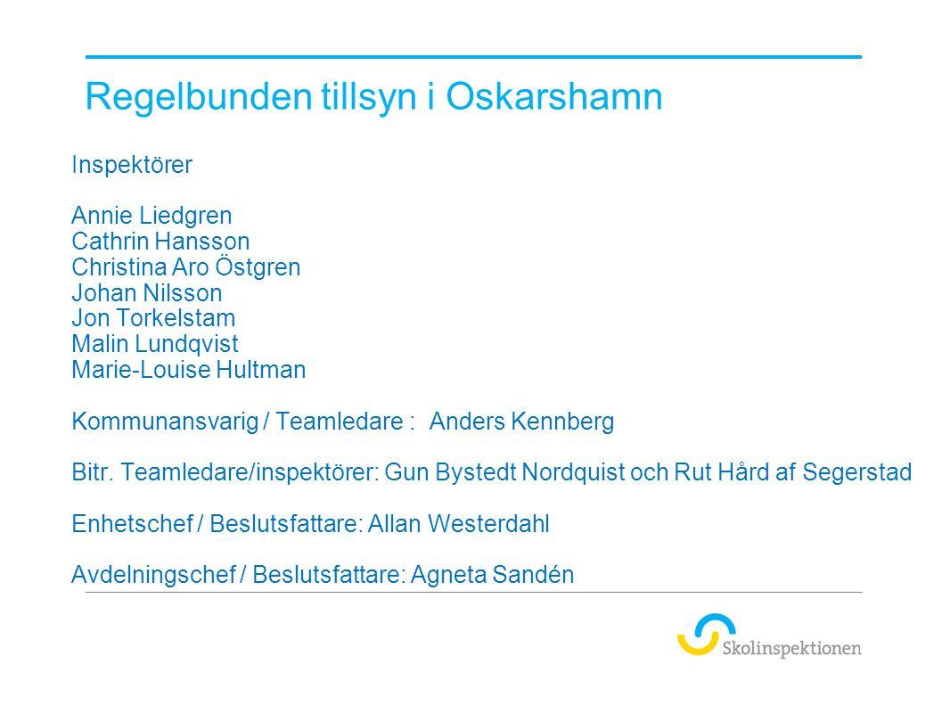 Regelbunden tillsyn i Oskarshamn