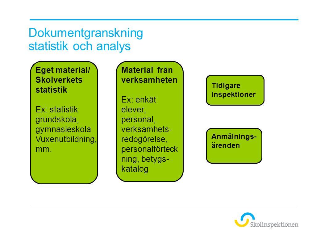 Dokumentgranskning statistik och analys