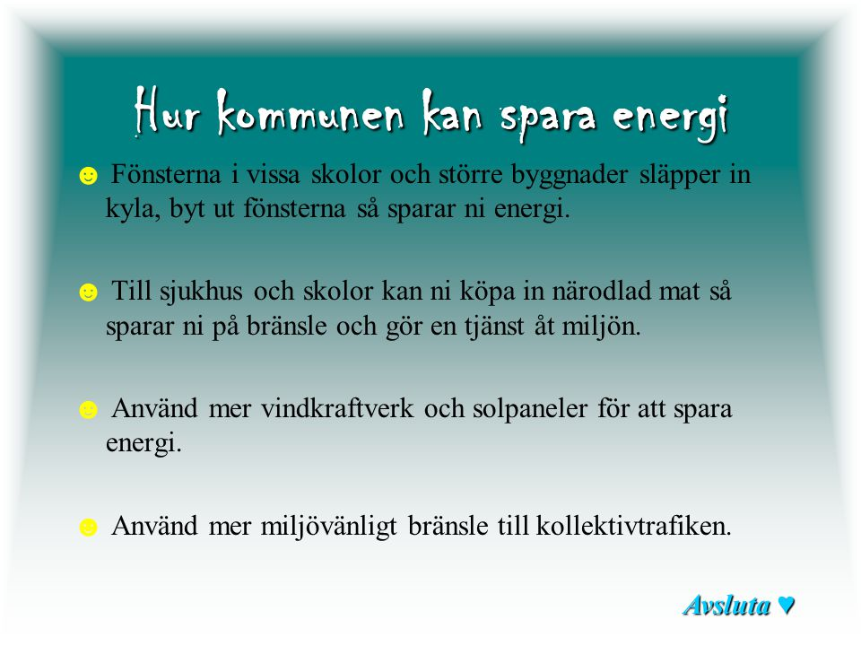 Hur kommunen kan spara energi