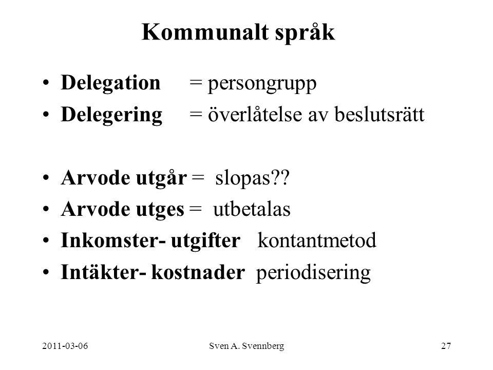 Kommunalt språk Delegation = persongrupp