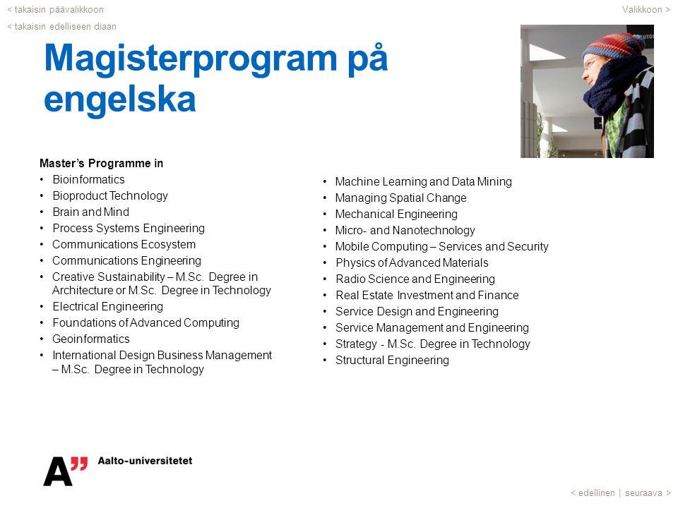 Magisterprogram på engelska