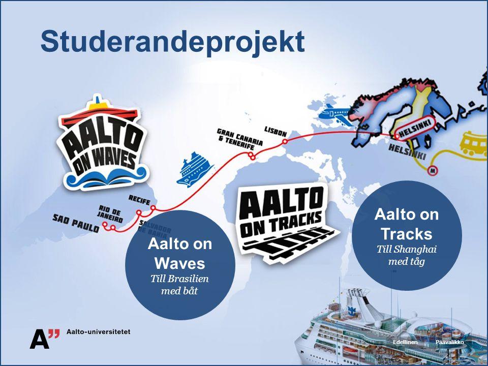 Studerandeprojekt Aalto on Tracks Till Shanghai med tåg