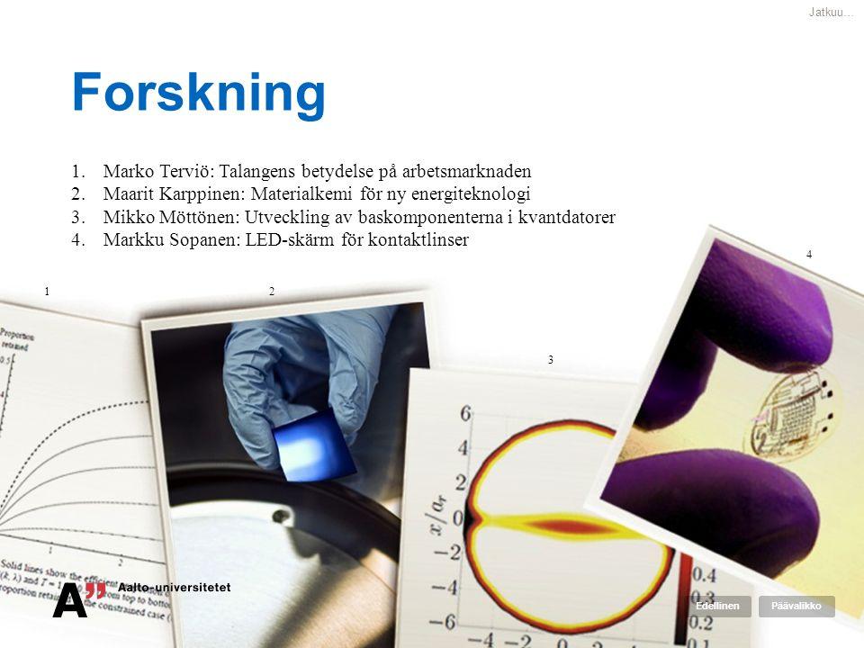 Forskning Marko Terviö: Talangens betydelse på arbetsmarknaden