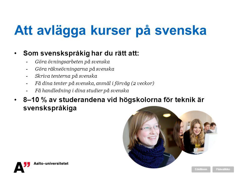 Att avlägga kurser på svenska