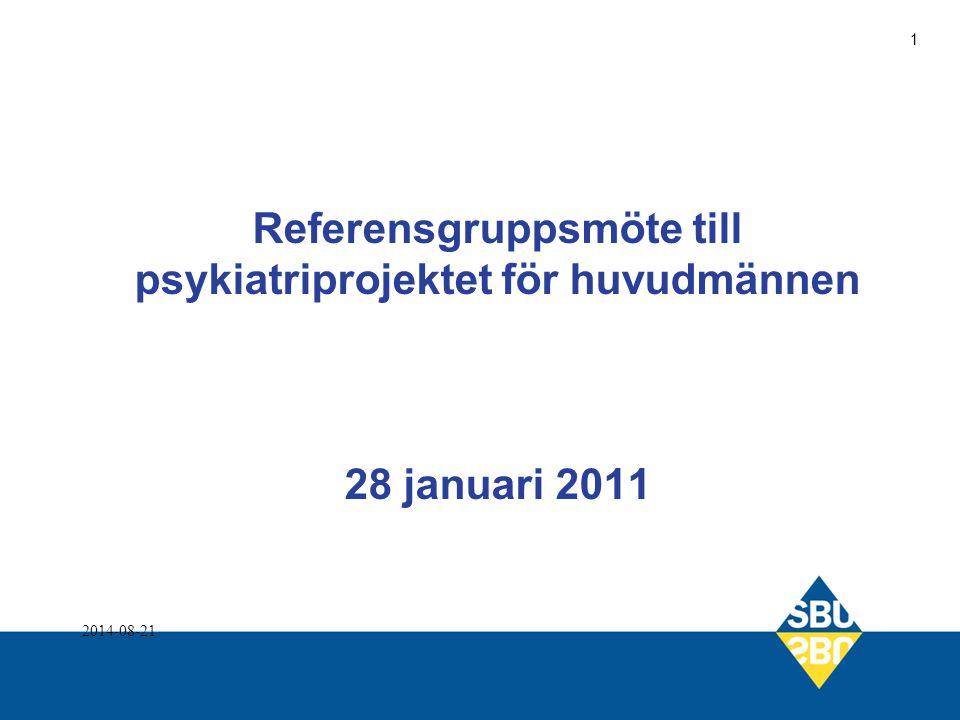 Referensgruppsmöte till psykiatriprojektet för huvudmännen 28 januari 2011