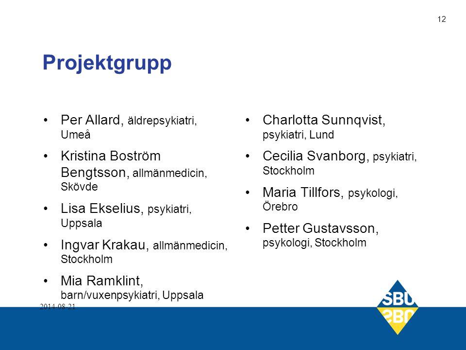 Projektgrupp Per Allard, äldrepsykiatri, Umeå