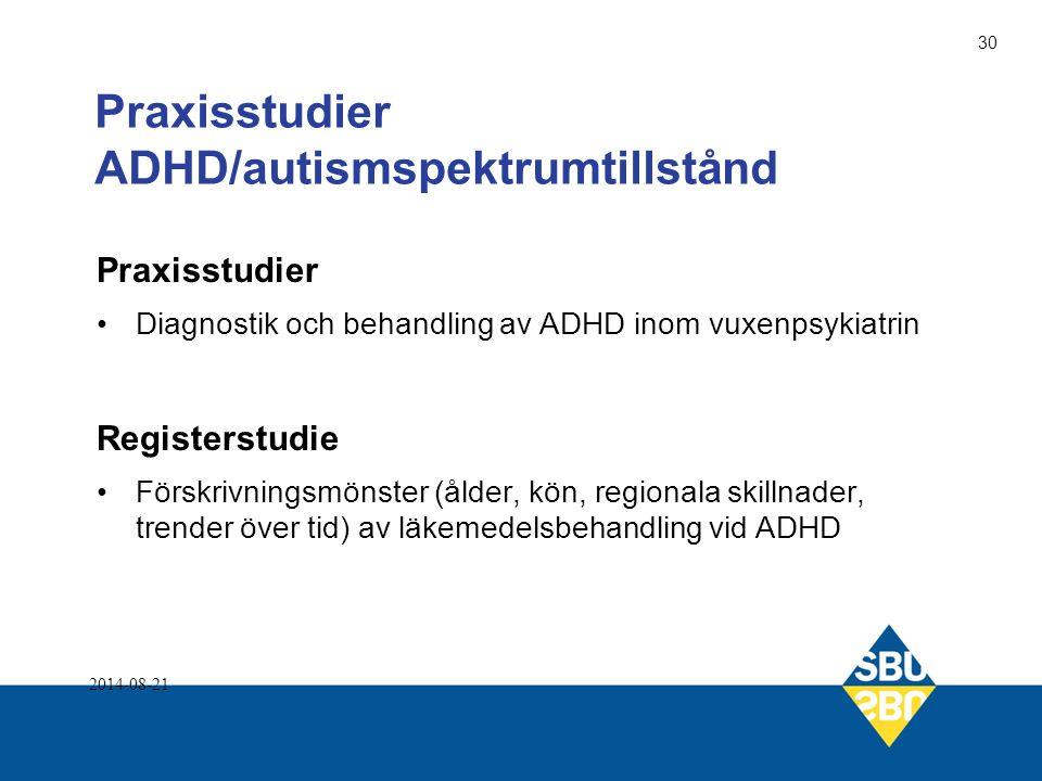 Praxisstudier ADHD/autismspektrumtillstånd
