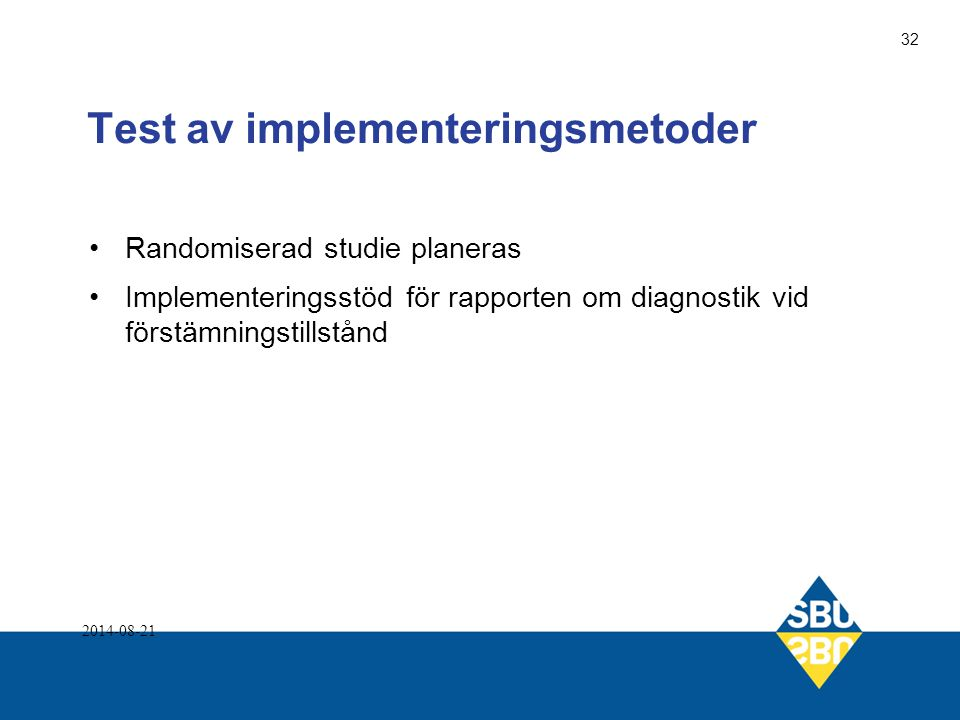 Test av implementeringsmetoder