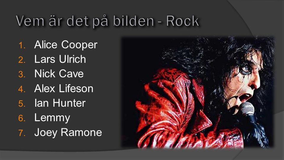 Vem är det på bilden - Rock