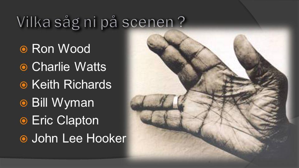 Vilka såg ni på scenen Ron Wood Charlie Watts Keith Richards