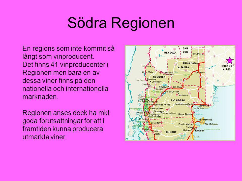 Södra Regionen En regions som inte kommit så långt som vinproducent.