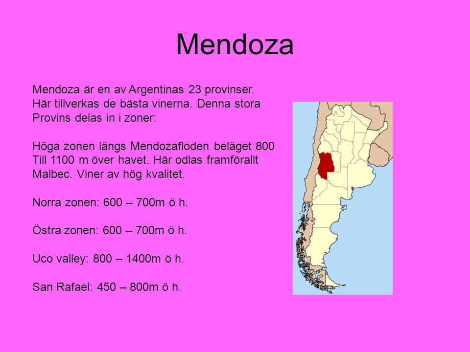 Mendoza Mendoza är en av Argentinas 23 provinser.