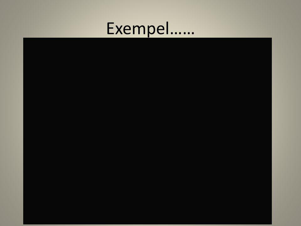 Exempel……