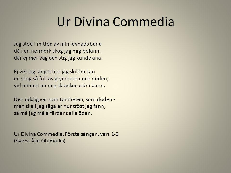 Ur Divina Commedia Jag stod i mitten av min levnads bana