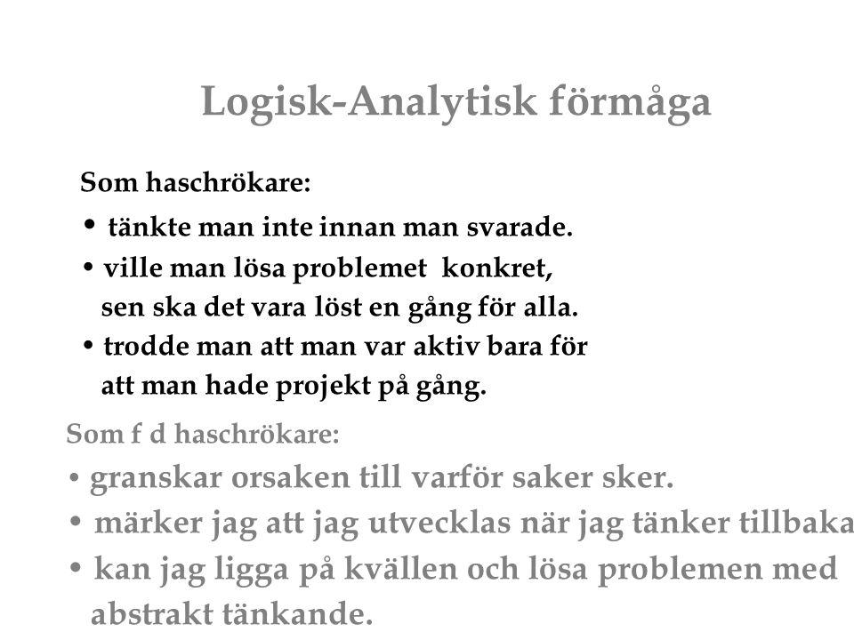 Logisk-Analytisk förmåga
