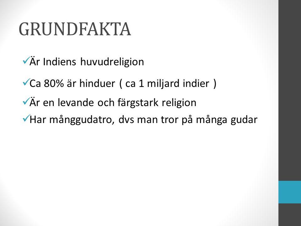 GRUNDFAKTA Är Indiens huvudreligion