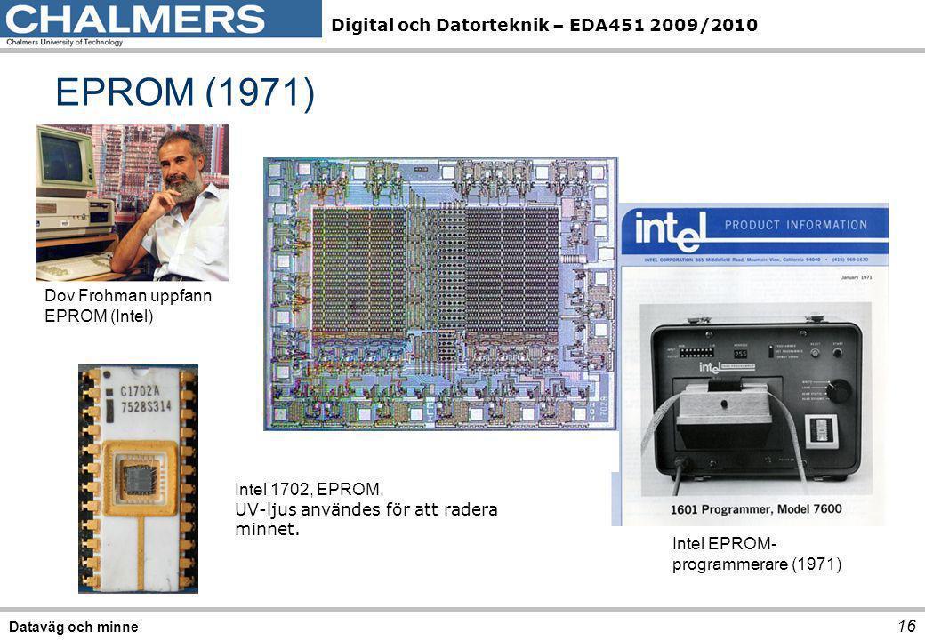 EPROM (1971) Dov Frohman uppfann EPROM (Intel) Intel 1702, EPROM.