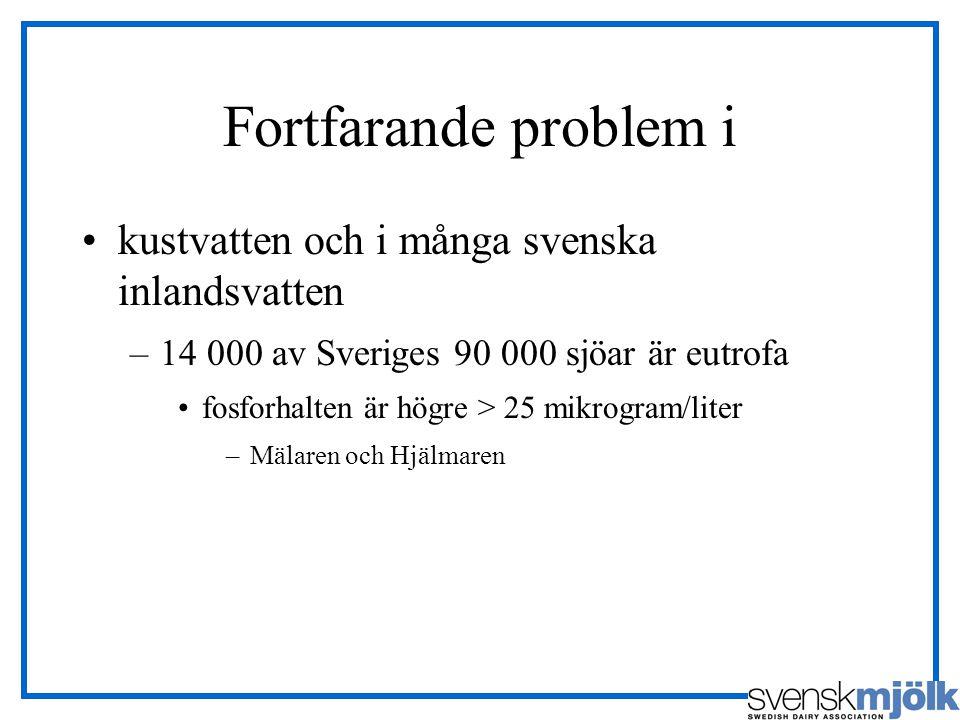 Fortfarande problem i kustvatten och i många svenska inlandsvatten