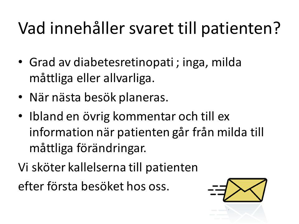 Vad innehåller svaret till patienten