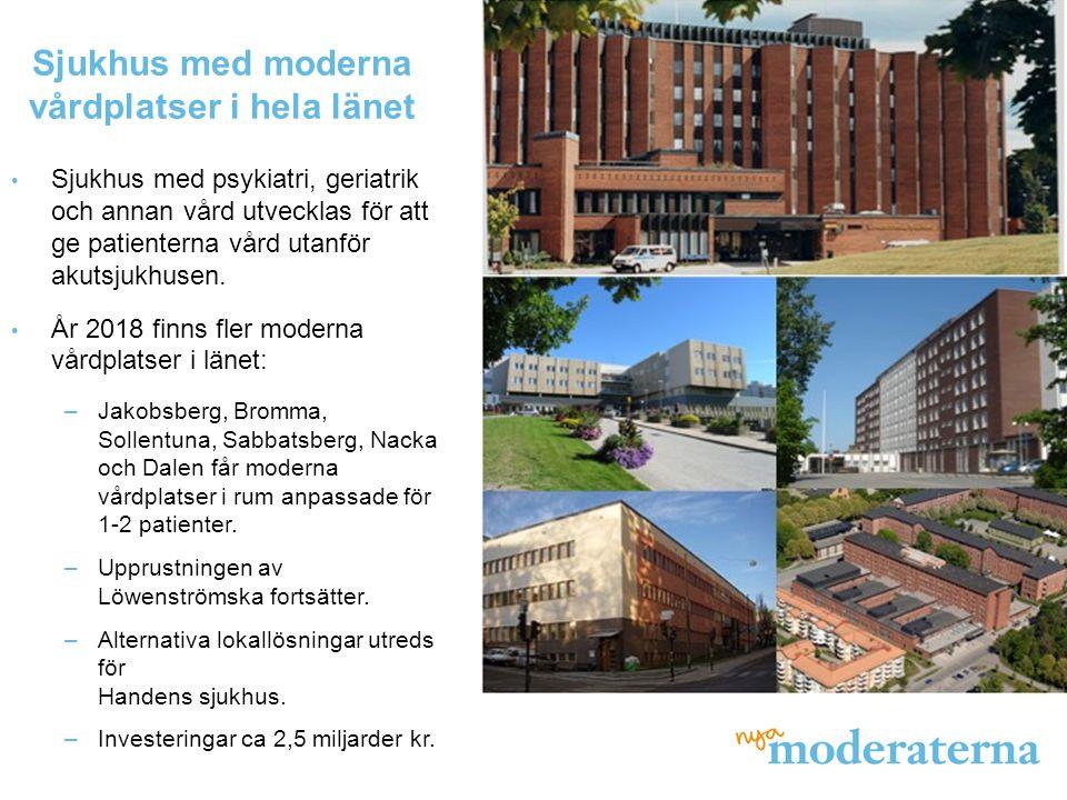 Sjukhus med moderna vårdplatser i hela länet