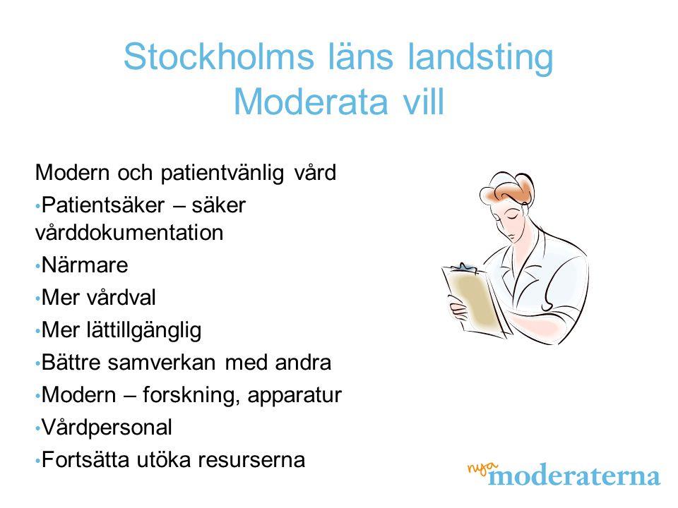 Stockholms läns landsting Moderata vill