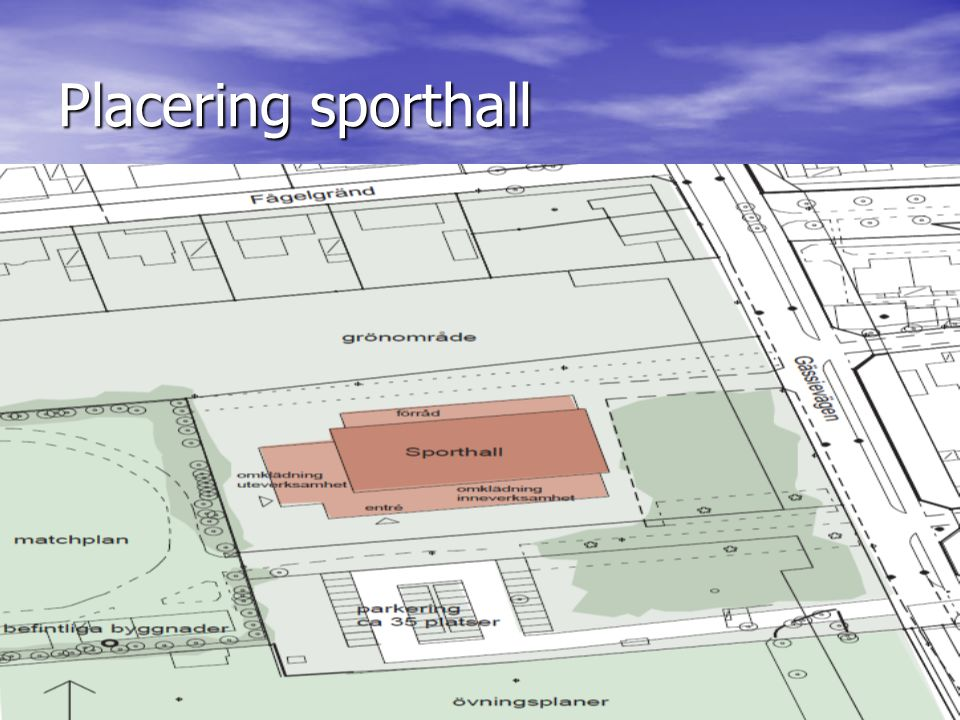 Placering sporthall
