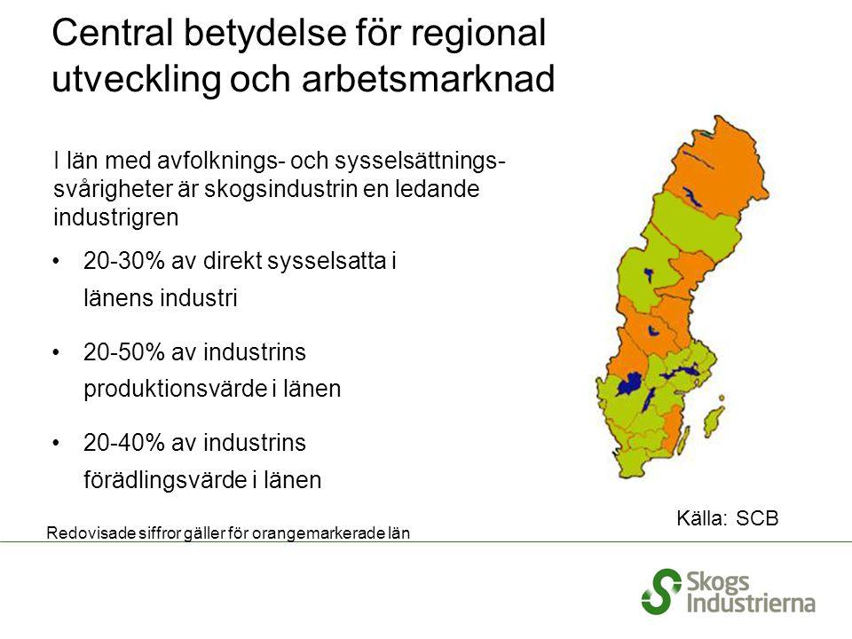 Central betydelse för regional utveckling och arbetsmarknad