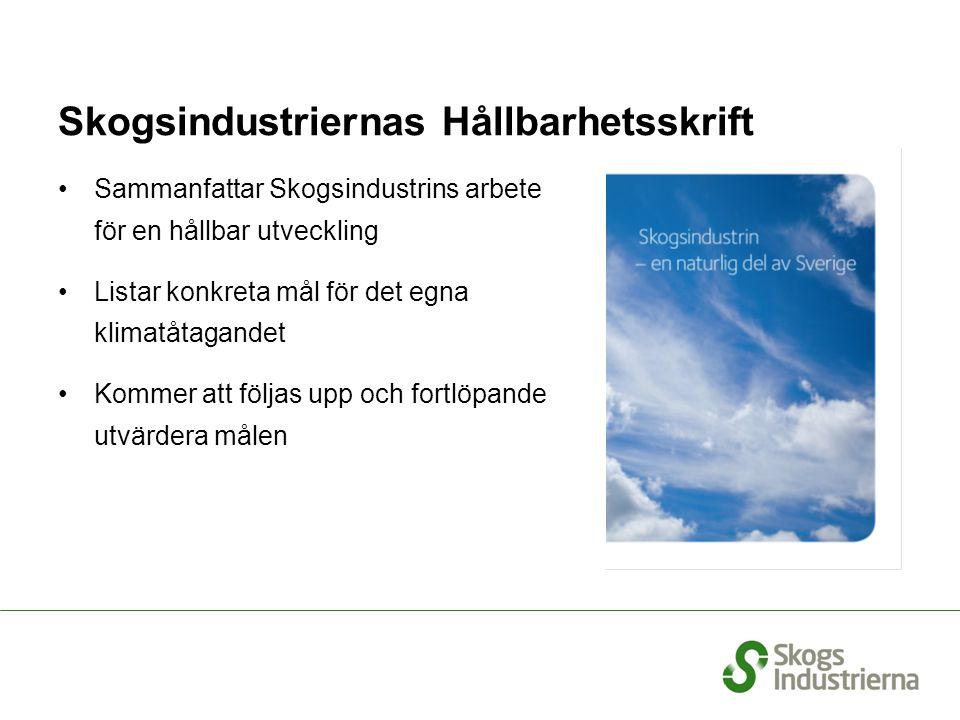 Skogsindustriernas Hållbarhetsskrift