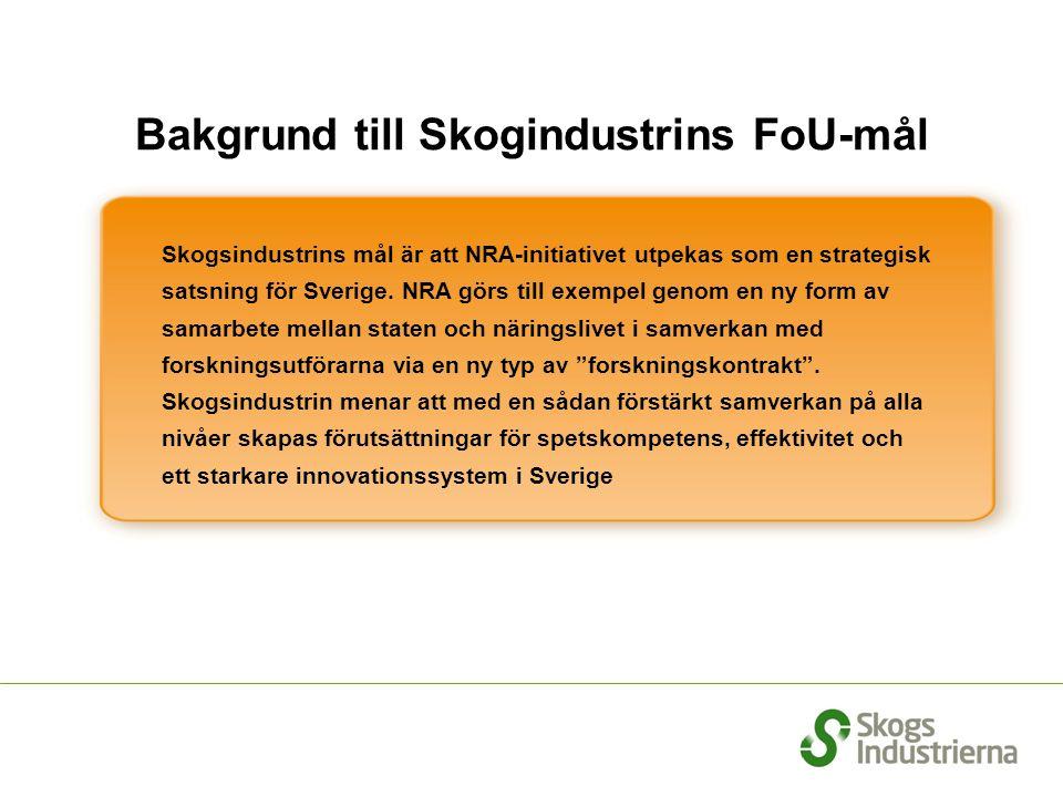 Bakgrund till Skogindustrins FoU-mål