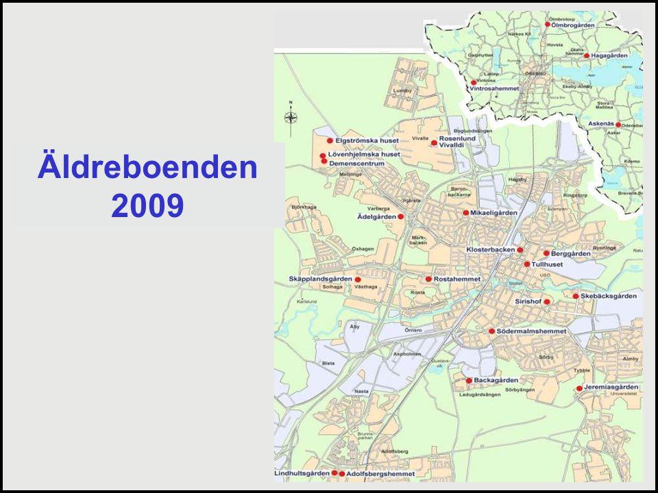 Äldreboenden 2009. Sammanlagt så har vi i dag 22 stycken äldreboenden i Örebro utspridda över kommunen,