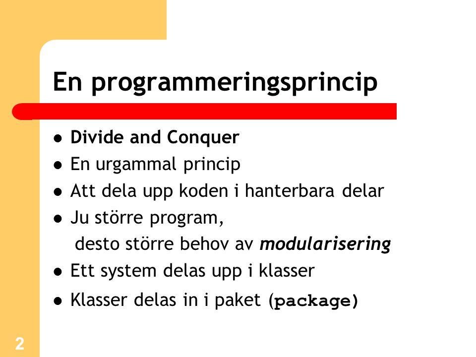 En programmeringsprincip
