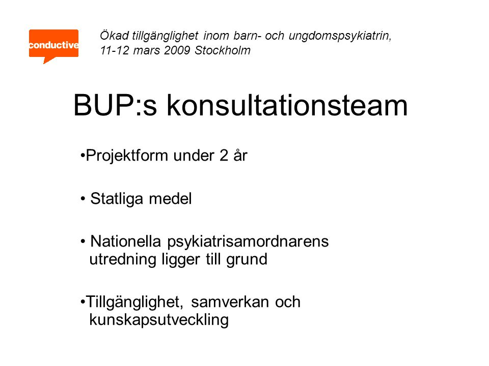 BUP:s konsultationsteam
