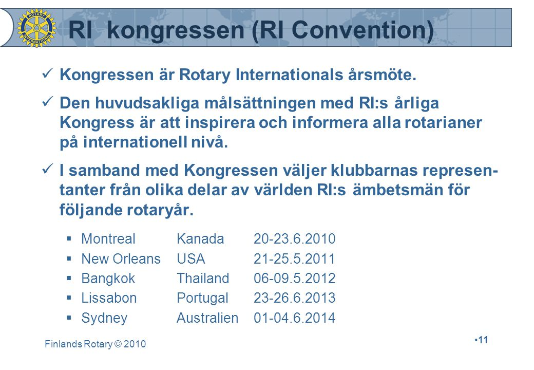 RI kongressen (RI Convention)